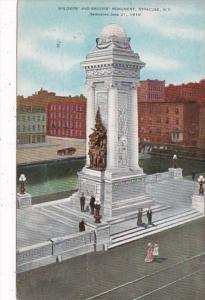 New York Syracuse Soldiers and Sailors Monument 1910