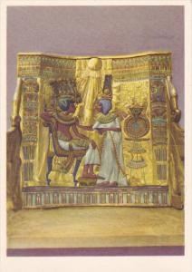 EGYPT, 1940´s; No. 4 Tut Ank Amen´s Treasures, Back Panel Of The King's Throne