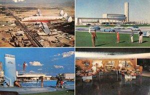 LAS VEGAS HACIENDA Golfers, Hotel Swimming Pool Nevada 1962 Vintage Postcard