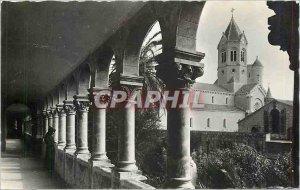 Modern Postcard Abbaye Notre Dame de Lérins Ile Saint Honorat AM modern Cloitre