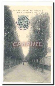 Parc de Saint Cloud Old Postcard Allee of Sighs Henri III was assassinated in...