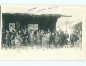 old rppc skiing SIGN SAYS BRETAYE Villars-Sur-Ollon - Vaud Switzerland i3485