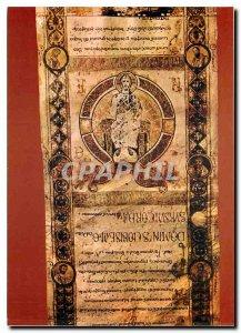 Postcard Modern Bari Exultet iniziale di vere quia dignum con Cristo in trono
