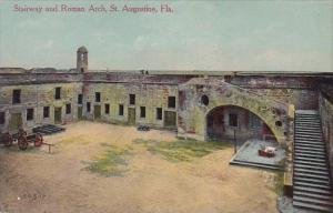 Florida Saint Augustine Stairway And Roman Arch