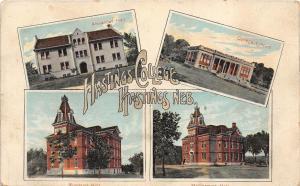 C98/ Hastings Nebraska Ne Postcard 1912 Hastings College 4 View Ringland Hall