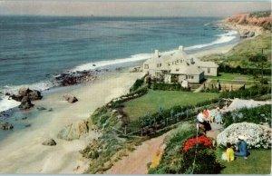 Malibu Encinal between Oxnard & Santa Monica Union Oil # 41 California Postcard