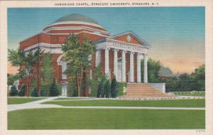 SYRACUSE, New York, 30-40s; Hendricks Chapel, Syracuse University