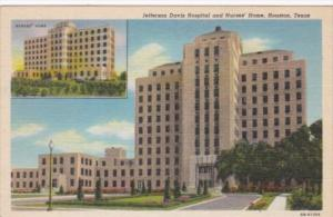 Texas Houston Jefferson Davis Hospital and Nurses' Home Curteich