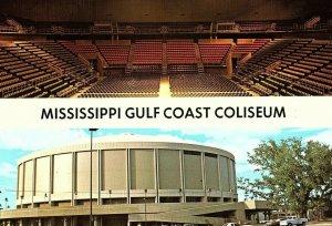 Vintage Mississippi Gulf Coast Coliseum Biloxi, MS Postcard A1