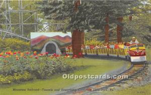 Conneaut Lake Park, Pennsylvania, PA, USA Postcard Miniature Railroad, Tunnel...