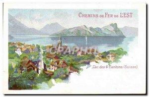Postcard Old Train Railways of & # 39Est Lake of 4 cantons Switzerland