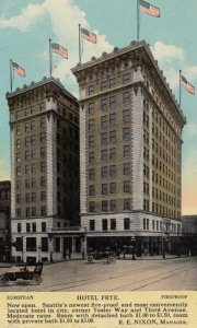 SEATTLE, Washington, 1912; Hotel Frye