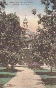 Wisconsin Stevens Point Tower State Normal School Handcolored Albertype