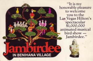 WELCOME TO LAS VEGAS HILTON'S SPECTACULAR ANIMATED JAMBIRDEE Continental 1982