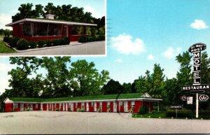 South Carolina Bamberg Hi-Way Host Motel and Restaurant 1964