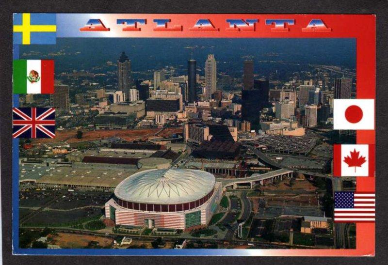 GA Georgia Dome Stadium Sports Atlanta Falcons Football Team Postcard