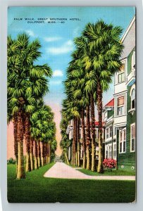 Gulfport MS-Mississippi, Great Southern Hotel, Advertising Linen Postcard