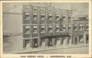 Sherbrooke Quebec King George Hotel Postcard