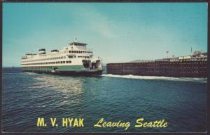 Ferry Boat,M V Hyak Postcard