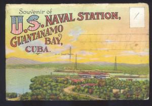 U.S. NAVAL STATION NAVY GUANTANAMO BAY CUBA VINTAGE 16 PICTURES FOLDER