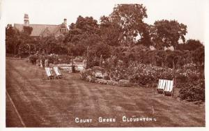 Cloughton Blackpool Court Green Village Deck Chair WW2 RPC Real Photo Postcard