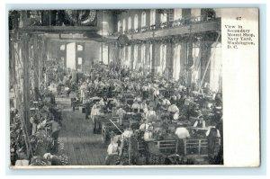 View in Secondary Mount Shop Navy Yard Washington D.C. 1909 Vintage Postcard