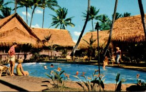 Hawaii Waikiki Hawaiian Village Swimming Pool 1958