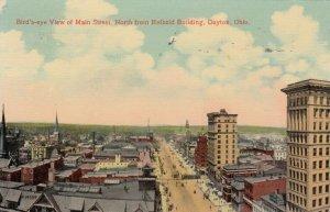 DAYTON, Ohio, PU-1916; Bird's Eye View of Main St. North from Reibold Building
