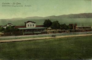 greece, CORINTH CORINTHE Κόρινθος, Railway Station (1916) Postcard