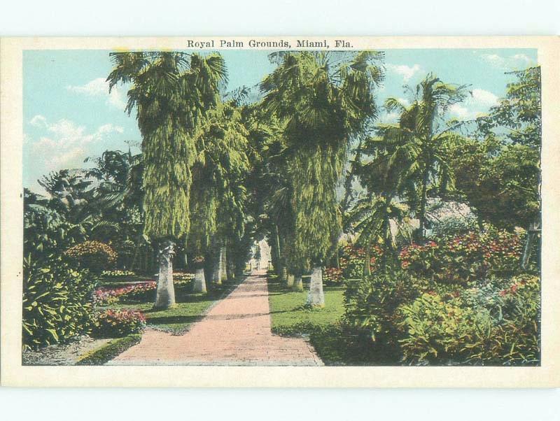 Unused W-Border ROYAL PALM GROUNDS Miami Florida FL E8305