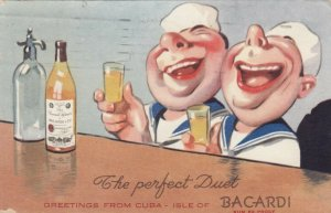CUBA , PU-1940; The Perfect Duet, Sailors drinking Bacardi Rum 89 Proof