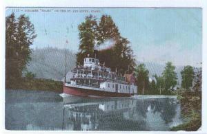 Steamer Idaho St Joe River Idaho 1908 postcard