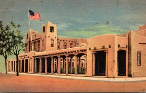 New Mexico Santa Fe Post Office and Federal Building 1938 Curteich