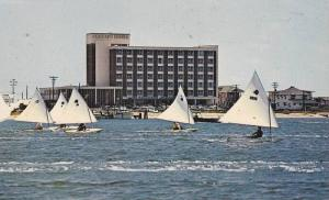 Sunfish sailboats,  Blockade Runner Motor Hotel,  Wrightsville Beach,  North ...