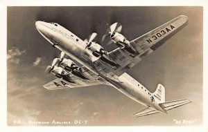 American Airlines Douglas DC-7 Photo #4A By Enell RPPC