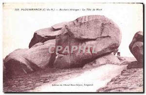 Old Postcard Ploumanac pm Rocks strange La Tete de Mort