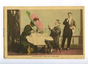 189678 FASHION 1909 Huge HAT Restaurant Vintage COMIC PC
