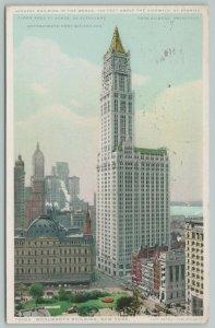 NYC New York~Woolworth BLDG~c1910 Postcard