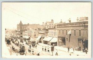 Sioux Falls South Dakota~Nordic Parade~Barnett Bros Laundry~Norberg~c1915 RPPC