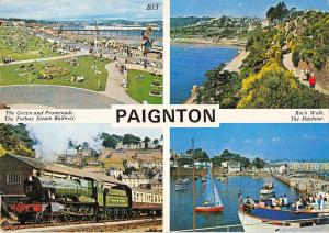B100079 paignton train ship bateaux railway uk