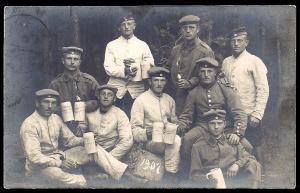 German Naval Men Sailors Drinking Beer used c1907