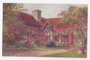 UK Stratford on Avon Garden Shakespeares Birthplace Quatremain Watercolor PC