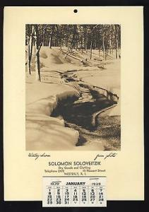 Vintage 1939 Calendar, Solomon Soloveitzik Dry Goods & Cl...