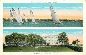 MS, Biloxi, Mississippi, Hotel Riviera, Cabin Sloops in Close Finish, E.C. Kropp