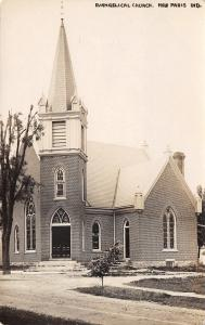 New Paris Indiana~Evangelical Church~J Inbody c1912 Real Photo Postcard~RPPC
