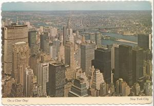 On a Clear Day! New York City, 1978 used Postcard