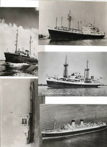 m.s Tuscany s.s. Mauretania New York Harbor and More Steamers Lot of 15 01.12