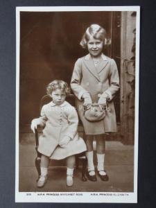 Royalty (looking grumpy) H.R.H. Princess Margaret & H.R.H. Princess Elizabeth