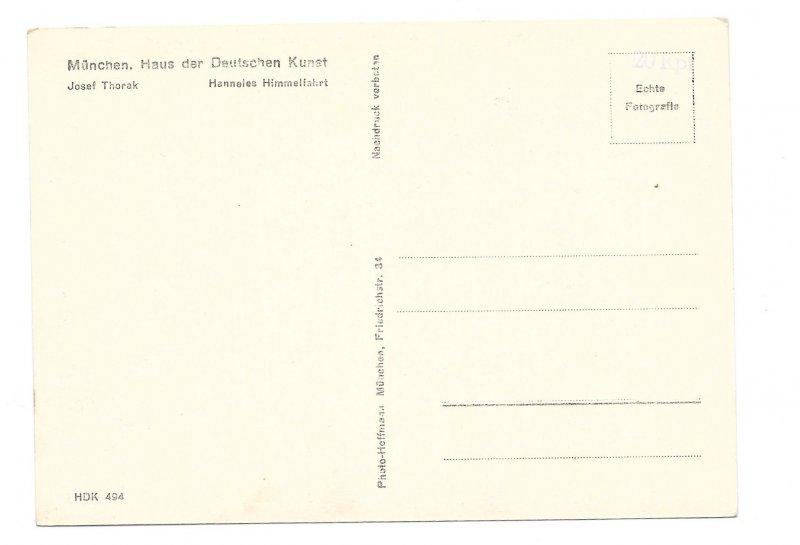 RPPC Heinrich Hoffman Nude Sculpture Hanneles Himmelfahrt Ascension 4X6 Postcard