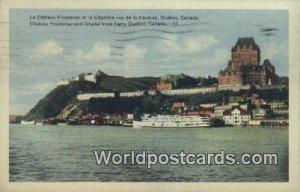 La Chateau Frontenac et la Citadell Quebec Canada 1949